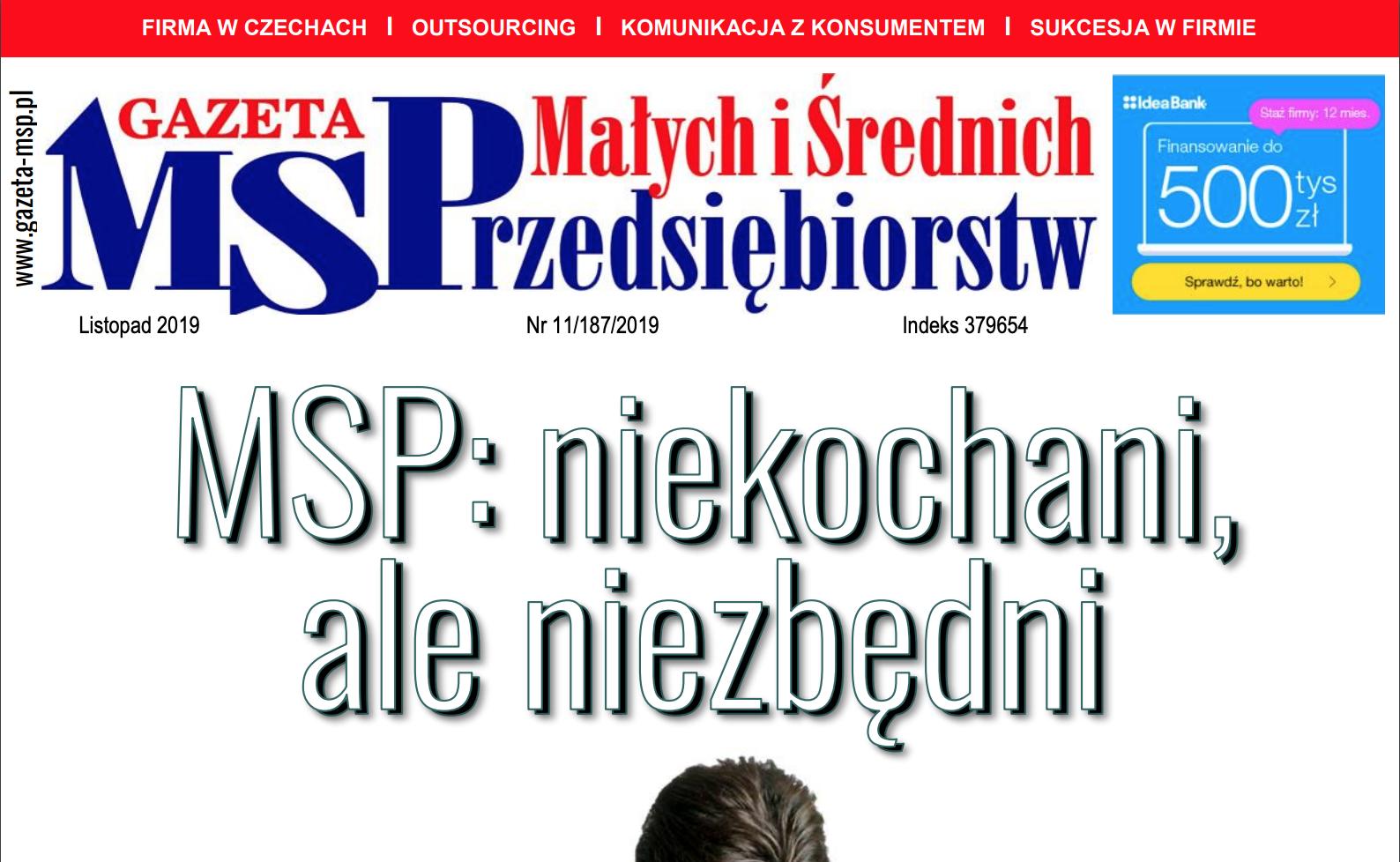 Listopadowe wydanie Gazety Małych i Średnich Przedsiębiorstw